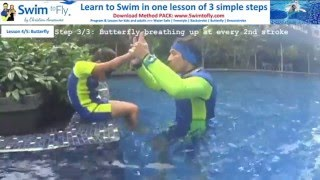 TEACH to swim BUTTERFLY to a CHILD in 3 steps - demonstration lesson