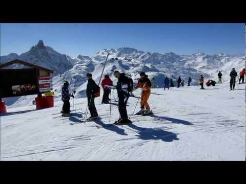 To the top of the Saulire (Meribel/Courchevel)