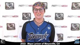 2022 Maya Larsen Power Hitting First Base and Catcher Softball Skills Video - Sorcerer Rodriguezr