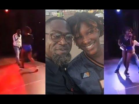 Countryman Songo Fingers Ebony Reigns on stage at tKumasi