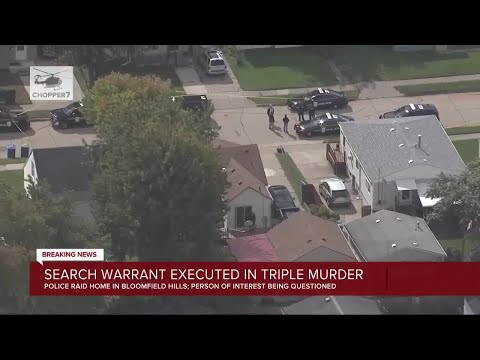 Search warrant executed in triple murder