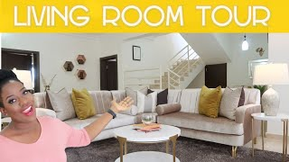 LAGOS LIVING ROOM TOUR | MADE IN NIGERIA FURNITURE | SISIYEMMIE