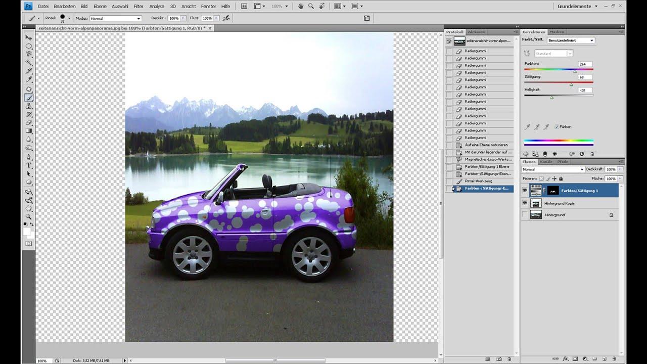 Lustiges Minicar erstellen – Photoshop-Tutorial