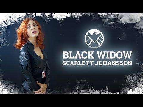 Scarlett Johansson Makeup & look : Black Widow | Avengers: Disfraz y Transformación Viuda Negra |