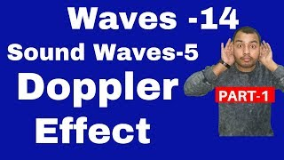 Waves14 : Sound Waves 05   Doppler Effect II Apparent Frequency  Derivation And Numericals JEE NEET