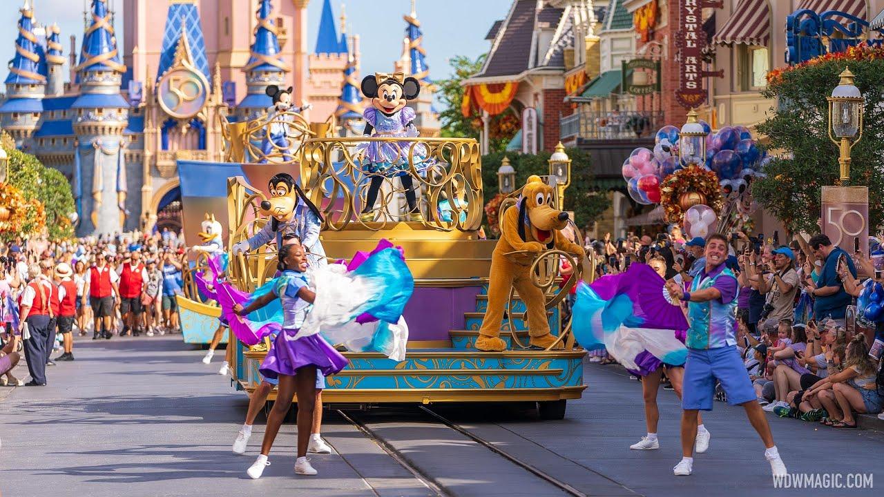 Mickey's Celebration Cavalcade 50th Anniversary at Magic Kingdom