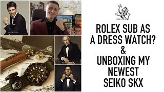 Wearing A Rolex Submariner Or Explorer As A Dress Watch? - Unboxing My Latest Modded Seiko SKX007