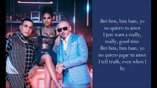 No Lo Trates ft. Natti Natasha - Pitbull & Daddy Yankee - (Lyrics)