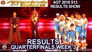 RESULTS QUARTERFINALS 3 JUDGES SAVE The Future Kingz Aaron Crow America's Got Talent 2018 AGT