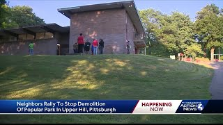 Neighbors rally to stop demolition of popular park in Upper Hill