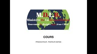 COURS 1 – DEVENIR UN DISCIPLE EFFICACE EN CHRIST – RECHERCHER PREMIEREMENT LE ROYAUME ET LA JUSTICE DE DIEU