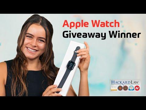 Hackard Law's Apple Watch Giveaway Winner