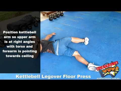 Kettlebell Legover Floor Press