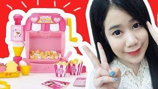 รีวิว ร้านขายป๊อบคอร์น ของเล่นสุดน่ารักจากเกาหลี ( ทำป๊อบคอร์นได้เหมือนจริงฝุดๆ ) | คะน้า Kanakiss - dooclip.me
