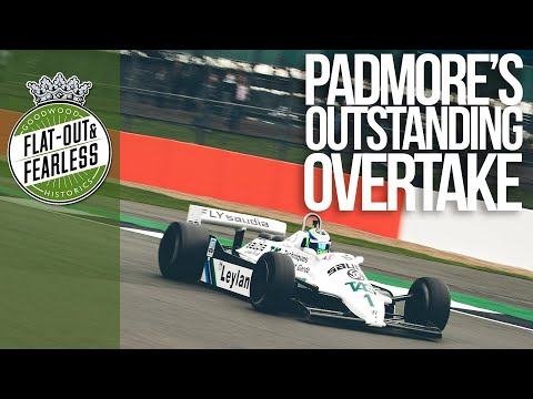 On board classic F1 overtaking action at Silverstone