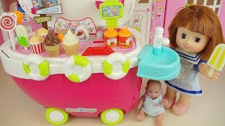 Baby doll Ice Cream Cart and candy shop play
