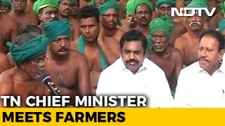 Tamil Nadu Chief Minister Palaniswami Meets Protesting Farmers In Delhi