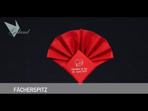 Servietten bedrucken - Faltanleitung  Fächerspitz