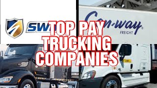 TRUCKING COMPANIES TO START YOUR CAREER WITH.