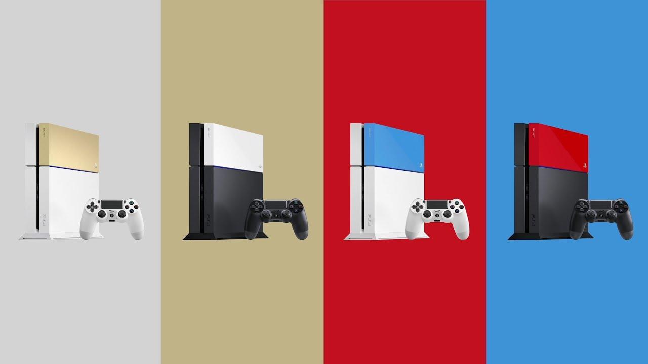 Présentation des nouvelles façades colorées pour PS4