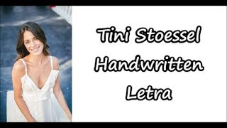Tini Stoessel - Handwritten Letra