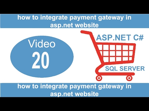 how to integrate payment gateway in asp.net website