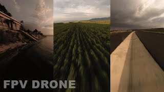 FPV DRONE RELAXING BACKGROUND VIDEO