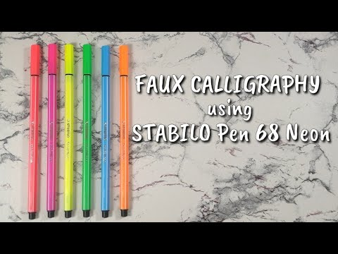 Tutorial #1 | Faux Calligraphy Tutorial using STABILO Pen 68 Neon