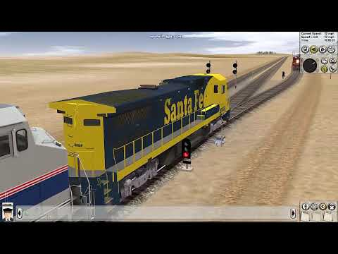 Trainz BNSF AND AMTRAK IN JOINTED RAIL! - смотреть онлайн на Hah Life