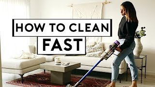 HOW TO CLEAN YOUR HOME FAST IN 30 MINUTES! QUICK CLEANING ROUTINE