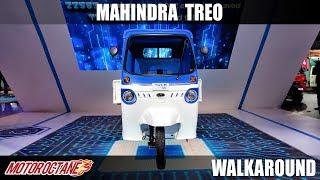 Mahindra Treo - Electric rickshaw | Auto Expo 2020 | Hindi | Motoroctane