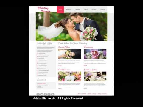 Wedding related web design samples ( MixoBiz )