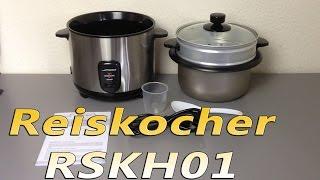 Reiskocher RSKH01 von Jago24 mit Dampfgarer und 4L Kapazität