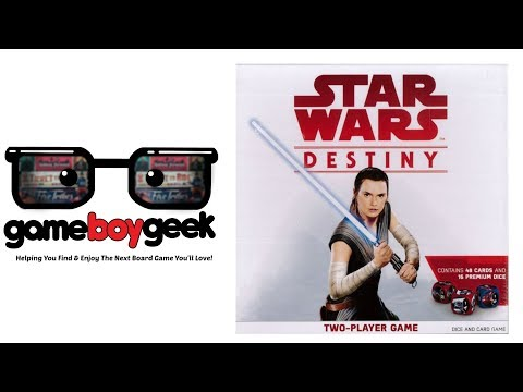 The Game Boy Geek Reviews Star Wars Destiny Two Player Game
