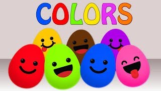 learn colors with eggs   surprise eggs   educational videos for kids