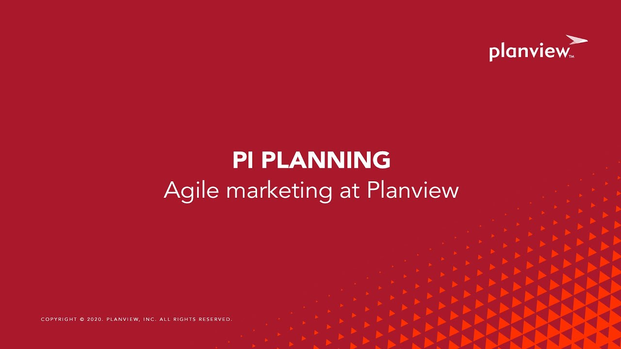 Video: The Journey: PI Planning at Planview