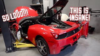 My Ferrari 458 is ALIVE! First Start and Rev's!!!