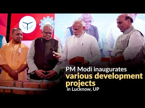 PM Modi inaugurates various development projects in Lucknow, UP