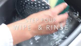 Removing limescale from Shower Heads