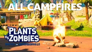 ALL CAMPFIRES (Carry The Torch) In Weirding Woods | Plants Vs Zombies: Battle For Neighborville