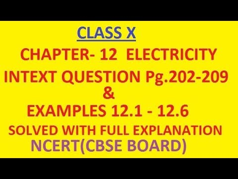 CBSE Electricity Class 10 Chapter 12 Numericals, Formulas