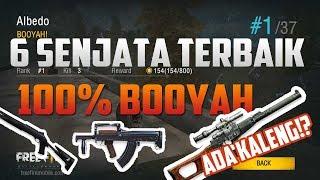 Gambar cover Awas Kaleng !! 6 Senjata Terbaik Pasti Booyah Free Fire Battlegrounds Indonesia HD
