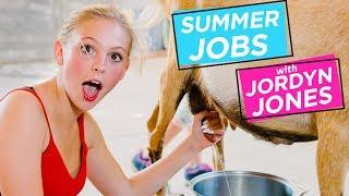 JORDYN JONES MILKS A GOAT | Summer Jobs w/ Jordyn Jones