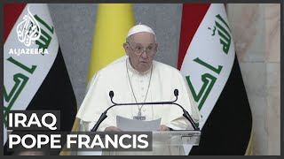 Pope Francis calls for end to violence in first Iraq address