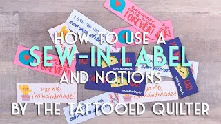 How to Sew on a Label with The Tattooed Quilter, Christopher Thompson | Fat Quarter Shop