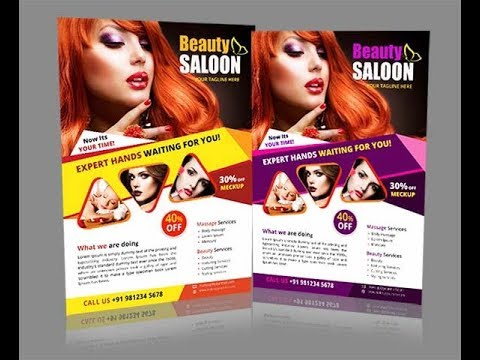 Beauty Salon Flyer Design | Spa Flyer Design | Illustrator Cs6 Tutorial Mp3