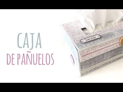 Caja para pañuelos - TUTORIAL DIY + Decoración Scrapbook