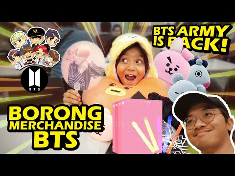 BORONG MERCH BTS BUAT ADEK KALO BISA JAWAB QUIZ BTS! Part 2 *army* *bangkrut*