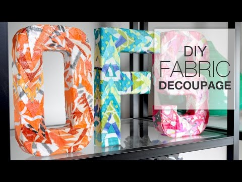 DIY Decoupage with Fabric