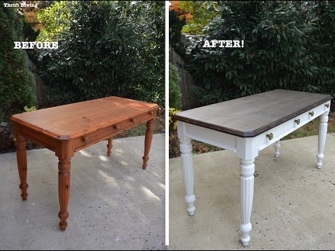 A 1980's DIY Desk Makeover Using Beyond Paint And Stain - Thrift Diving Mp3